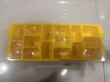 Ice cube tray plastic yellow