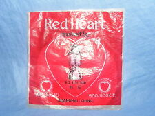Vintage Antiguo Corazón Rojo 500 600 C.P. manto para lámpara de parafina en Bolsa Original
