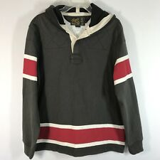 Ralph Lauren Rugby Athletic Outfitters Long Sleeve Hoodie Pullover Mens Size Lar