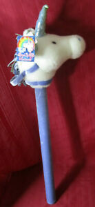 """Dan Dee Unicorn 34"""" Horse on a Stick Musical Light up Plush Toy Working w/Tags"""