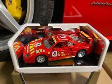 Bburago 1/18 Scale 1992 Ferrari F40 Red Evoluzione #3 Silver Wheels Code 3042