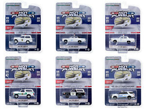 """HOT PURSUIT"" SERIES 35, SET OF 6 POLICE CARS 1/64 DIECAST BY GREENLIGHT 42920"