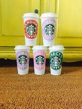 Personalized Starbucks Reusable Coffee Cup Tumbler w/ Name Custom Teacher's Gift