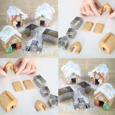 Christmas Gingerbread House Shaped Cookie Cake Mold Cutters Cake Biscuit Mold