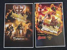 Judas Priest 2020 50th 2018 11x17 tour promo advert concert poster tickets shirt