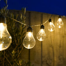 Plug In LED Filament Festoon A60 Fairy Lights | Timer Outdoor Garden Globe