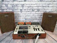 SONY Tapecorder TC-133CS with speakers Vintage Retro cassette deck