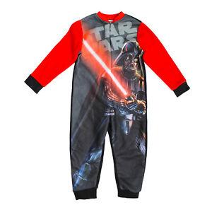 STAR WARS Boys All in one Sleepsuit Jumpsuit Pjs Age 3-4 Years Darth Vader