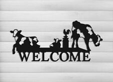 Dairy Cow Farm and Ranch Welcome Sign