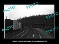 OLD LARGE HISTORIC PHOTO OF TUXEDO NORTH CAROLINA, THE RAILROAD STATION c1940