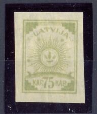 10239 Latvia,MNH stamp Nr:23 as colour proof, not emerald colour but with yellow