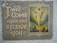 Jesus Cardboard Church Christianity Sunday School I will Come again Receive You