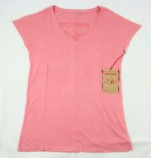 True Religion Bright Pink Solid Modal Cotton Top Sz M BNWT 100% Authentic