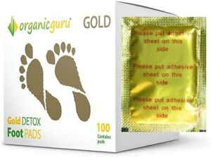 OrganicGuru GOLD Detox Foot Pads -100 =50 days supply Patches Remove Body Toxins