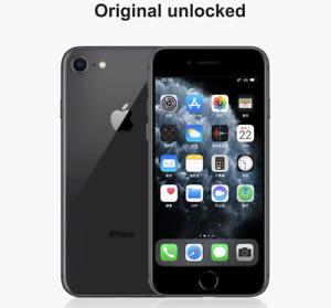 Apple Iphone 8 Unlocked Black 64GB 1Year Warrenty AAA+ (A1905)