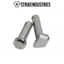 Strike Industries Enhanced Extended Front and Rear .250 Pins - Chrome / Silver