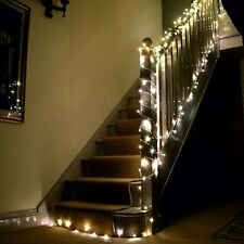 100 Indoor Outdoor LED Christmas, Wedding Fairy Lights Warm White Green Cable