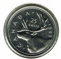1995 Canada Caribou Specimen Twenty Five Cent coin!