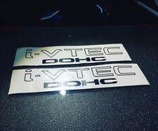 "i-VTEC DOHC (2 PACK) 9""  BLACK Vinyl Sticker Honda Civic Decal Drift JDM I VTEC"