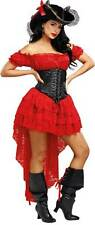 Dreamgirl Pirate Wench Beauty Red Lace Dress Black Corset Women's Costume SM-XL