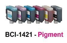 6 x tinta para Canon w8400p w8400 pg/bci-1441mbk bci-1441y bci-1421 pigmento Ink