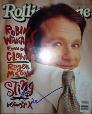 RIP ROBIN WILLIAMS SIGNED ROLLING STONE MAGAZINE PROOF & COA RARE FULL SIGNATURE