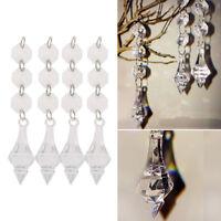 10x Acryl Kristall Perlen Girlande Kronleuchter Perlenschnur Hochzeit Party Deko