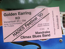 Golden Earring & Climax Blues Band 1990 Concert Ticket Konzertkarte Eintrittskar