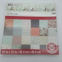 12x12 Scrapbook Paper Christmas Abroad Stack Pad Recollections 33 sheets