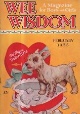 1935 Wee Wisdom February - Valentine's number with Westie dog; Pedal cars; Quilt