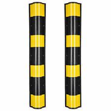 """2PC 31"""" Rubber Corner Guard Protector Round Edge Reflective Yellow Safety Strips"""