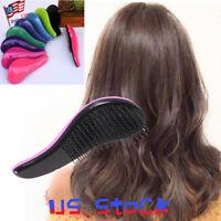 Women Detangling Comb Salon Styling Tamer Tool Magic Handle Shower Hair Brush US