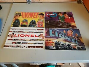 LOT OF 4VINTAGE LIONEL TRAINS MODEL CATALOGS 1952,1954 and 2 more
