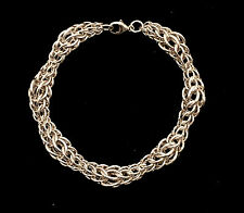 Chainmaille Sterling Silver Graduated Full Persian Bracelet. 8 Inches.
