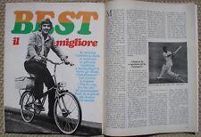 GEORGE BEST MANCHESTER UNITED PHOTO ARTICLE ITALIAN MAGAZINE 1967