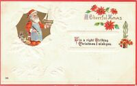 Santa Claus - Vintage Postcard A Cheerful Xmas Embossed - Christmas  03.31