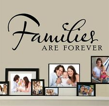 """Families Are Forever Vinyl Decal Home Décor 10"""" x 25"""""""