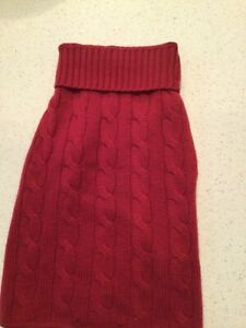 Cashmere Dog Sweater purchased at Neiman Marcus. Wine Berry Red