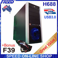 SPEED H688 USB3.0 PC Gaming Tower Case + Bonus F-39 Aircraft Gaming Mouse