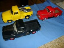 3 LOT ERTL Road Tough 1953 Ford F100 Black RED 1948 F-1 TRUCK YELLOW '53 LEGENDS