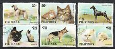 PHILIPPINES 1979 PETS DOG & CAT COMP. SET OF 6 STAMPS SC#1425-1430 IN FINE USED
