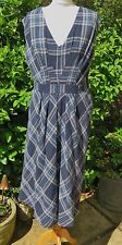 """GORGEOUS MONSOON *RUBY* BNWT BLUE MIX LINED COTTON BLEND DRESS SIZE 16 CHEST 40"""""""