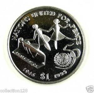 Liberia Commemorative Coin $1 UNC -- Nations for Peace