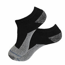 4 Pk NO SHOW PREMIUM QUALITY HEAVY THICK SOCKS COTTON BLACK CUSHION SOCKS 9-11
