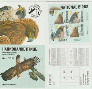 S36705 Bosnian Serbian Admin. Europa Cept MNH 2019 Booklet Bird Birds