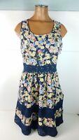 Womens Lauren Conrad Sheath Dress Floral Lace Sleeveless Cute Fit Flare Sz 8
