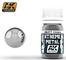 AK Interactive AKI-477 Xtreme Metal Chrome Metallic Paint 30ml Bottle