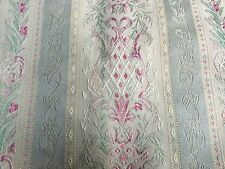 GORGEOUS COUNTRY CURTAIN ROSE&STRIPE DAMASK BLACKOUT CURTAIN PANELS