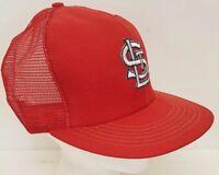 St Louis Cardinals Missouri Red Mesh Trucker MLB Baseball Snapback Hat USA Made