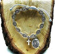 Rosary Bracelet - St Michael Chaplet for Men Women Protection Medal Bracelet